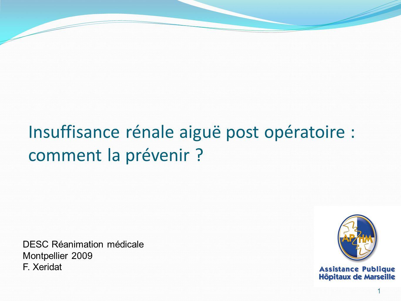 Insuffisance rénale aiguë post opératoire : comment la prévenir