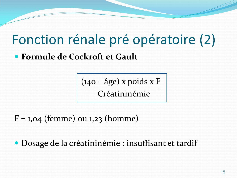 Fonction rénale pré opératoire (2)