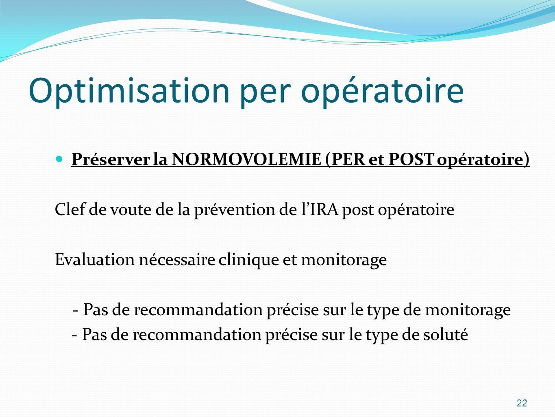 Optimisation per opératoire