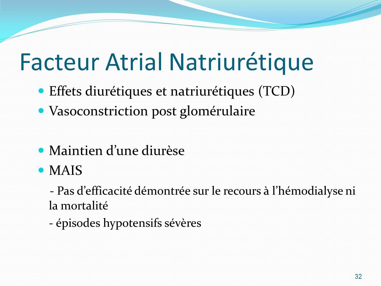 Facteur Atrial Natriurétique