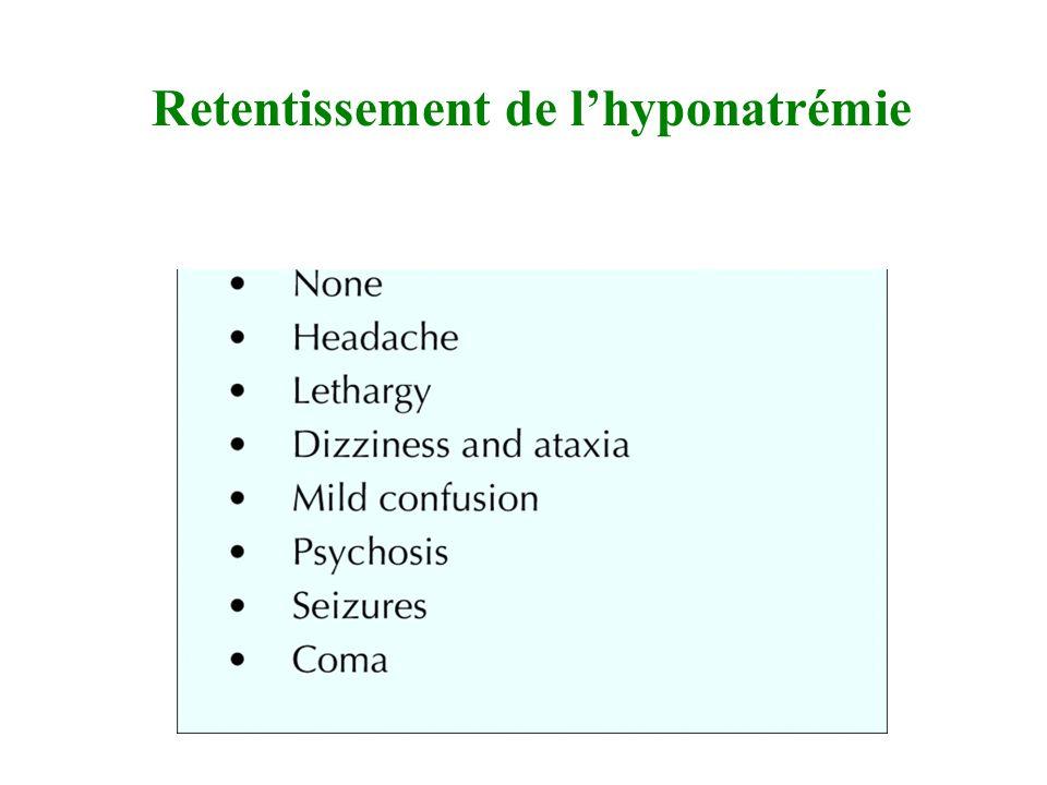 Retentissement de l'hyponatrémie