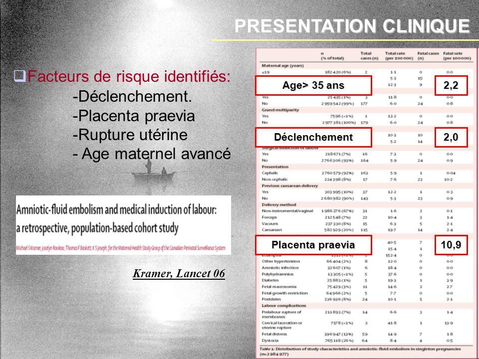 PRESENTATION CLINIQUE