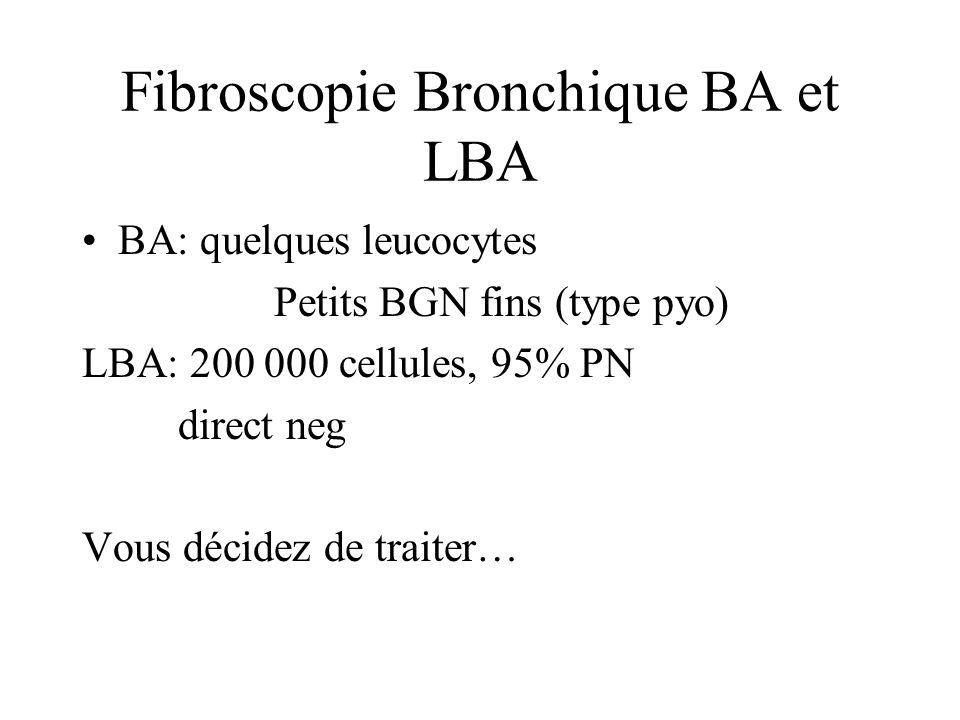 Fibroscopie Bronchique BA et LBA