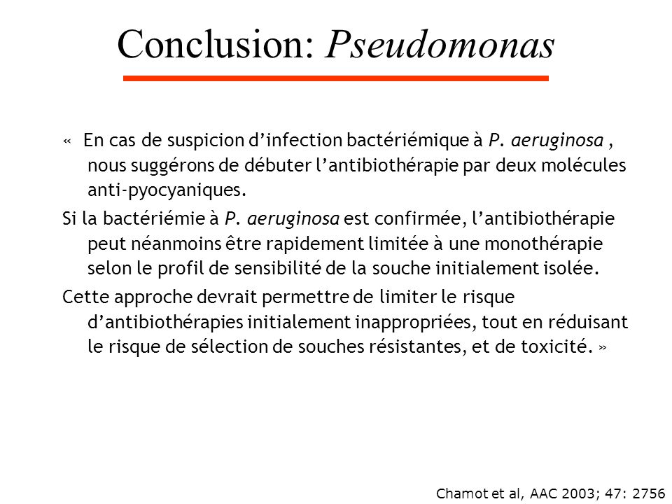 Conclusion: Pseudomonas