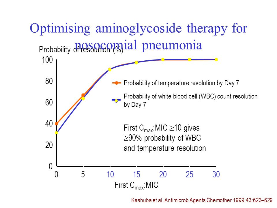Optimising aminoglycoside therapy for nosocomial pneumonia