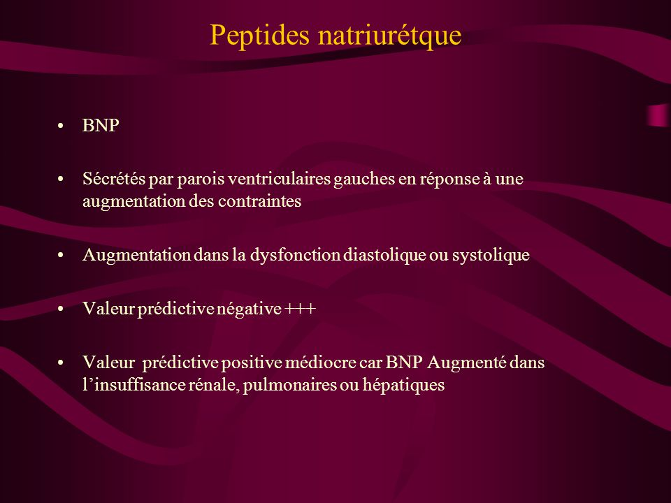 Peptides natriurétque