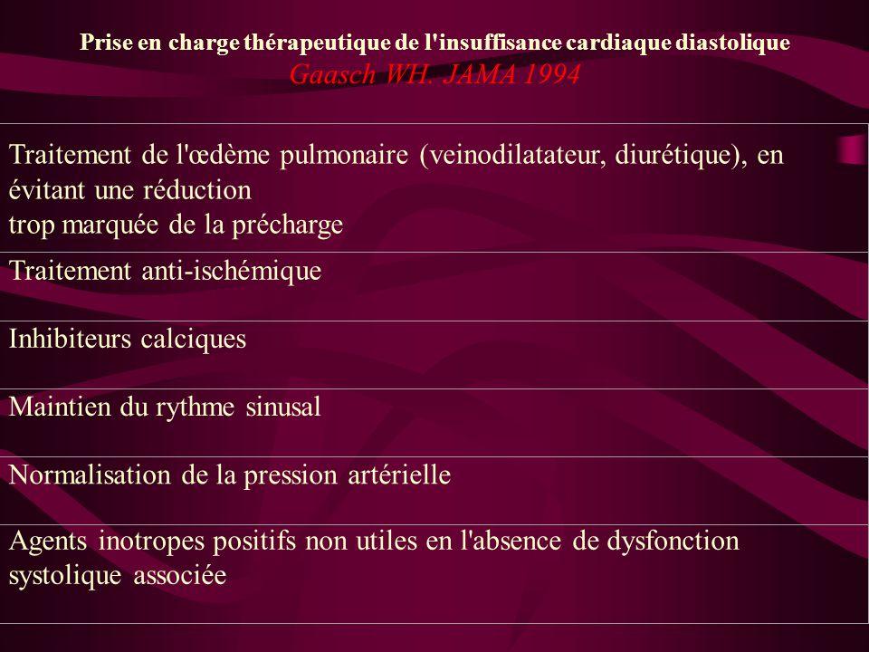 Prise en charge thérapeutique de l insuffisance cardiaque diastolique