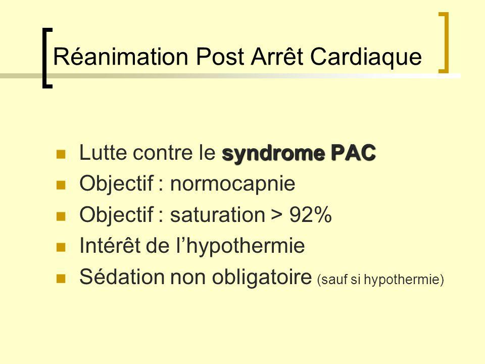 Réanimation Post Arrêt Cardiaque