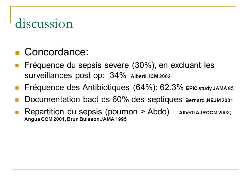 discussion Concordance: