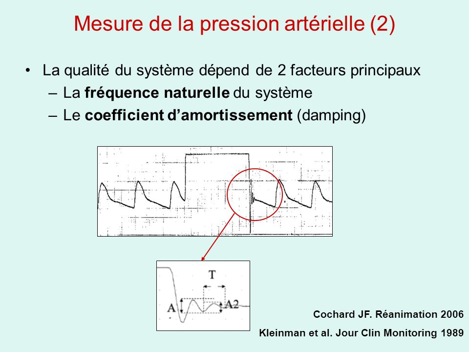 Mesure de la pression artérielle (2)