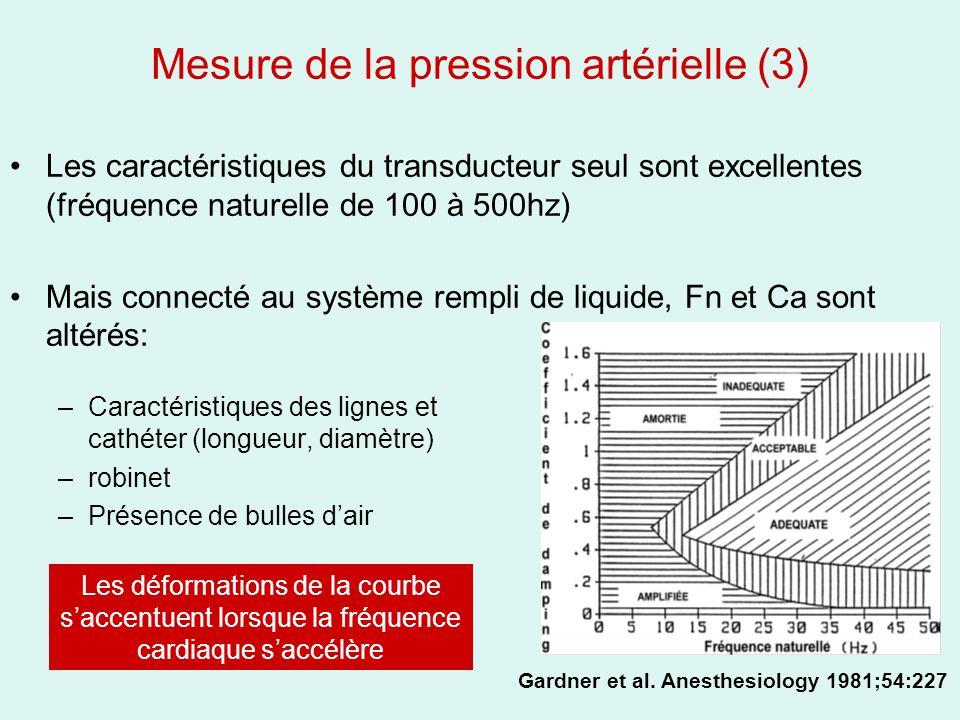 Mesure de la pression artérielle (3)