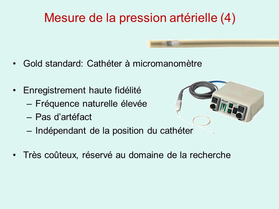 Mesure de la pression artérielle (4)