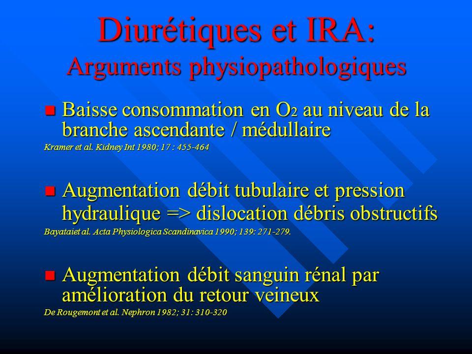 Diurétiques et IRA: Arguments physiopathologiques