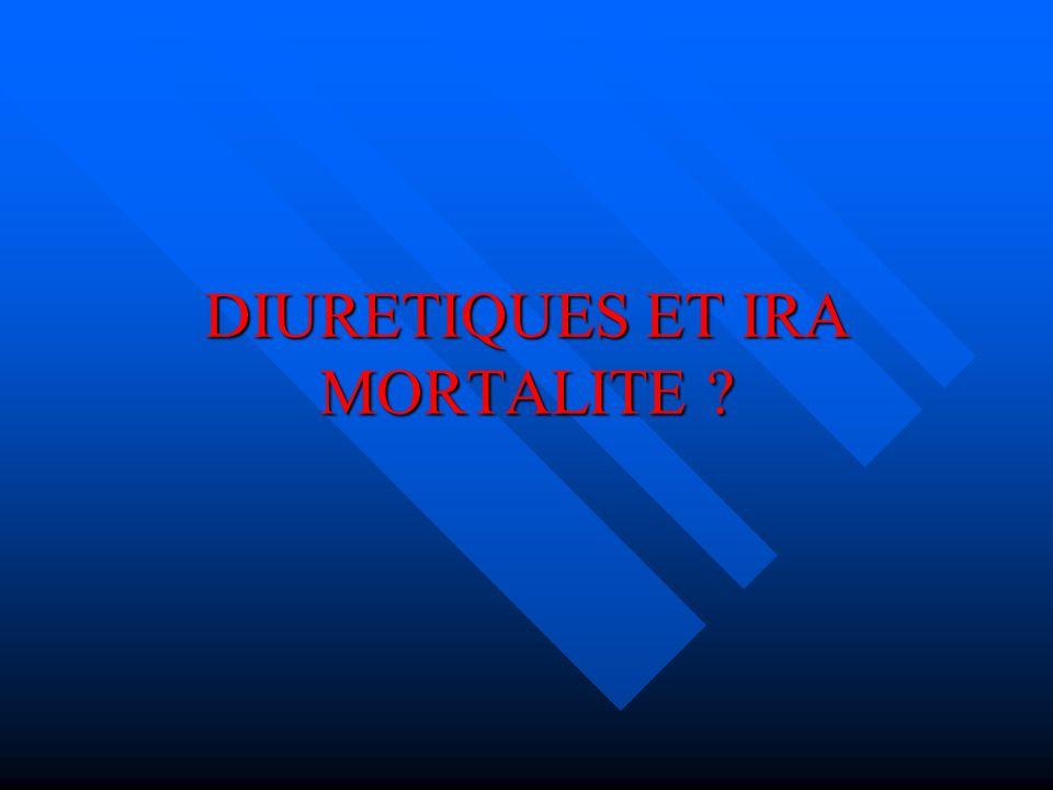 DIURETIQUES ET IRA MORTALITE