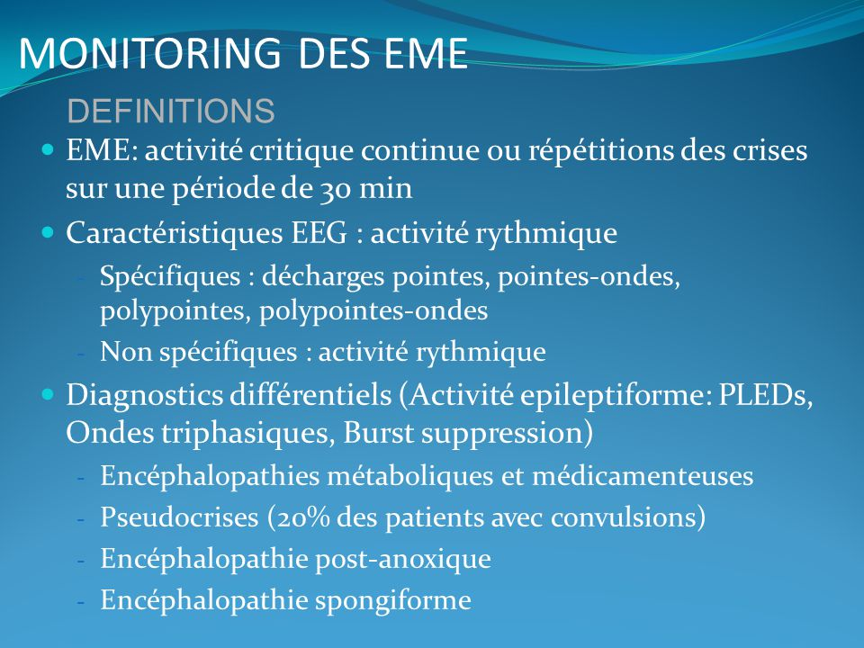 MONITORING DES EME DEFINITIONS