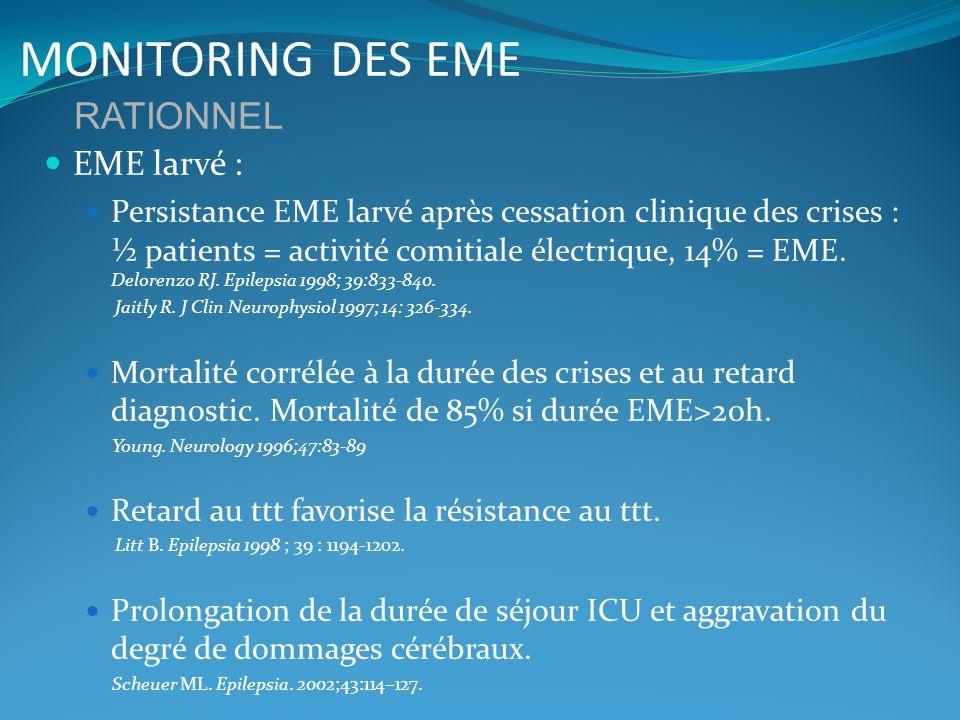MONITORING DES EME RATIONNEL EME larvé :