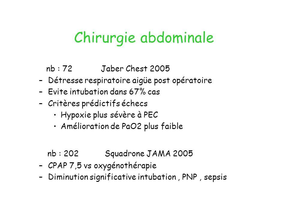 Chirurgie abdominale nb : 202 Squadrone JAMA 2005
