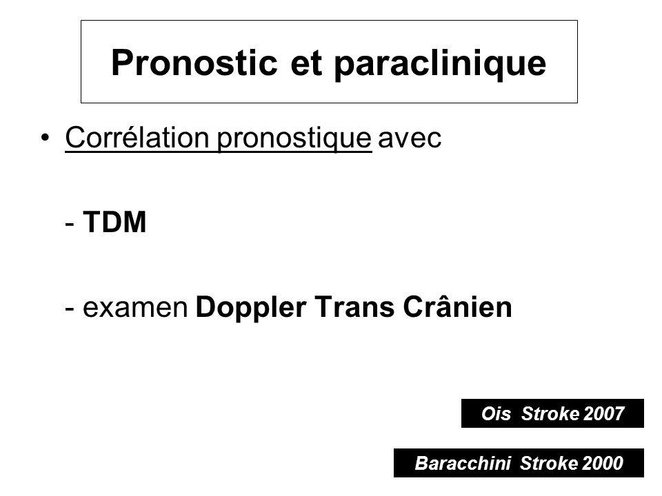 Pronostic et paraclinique