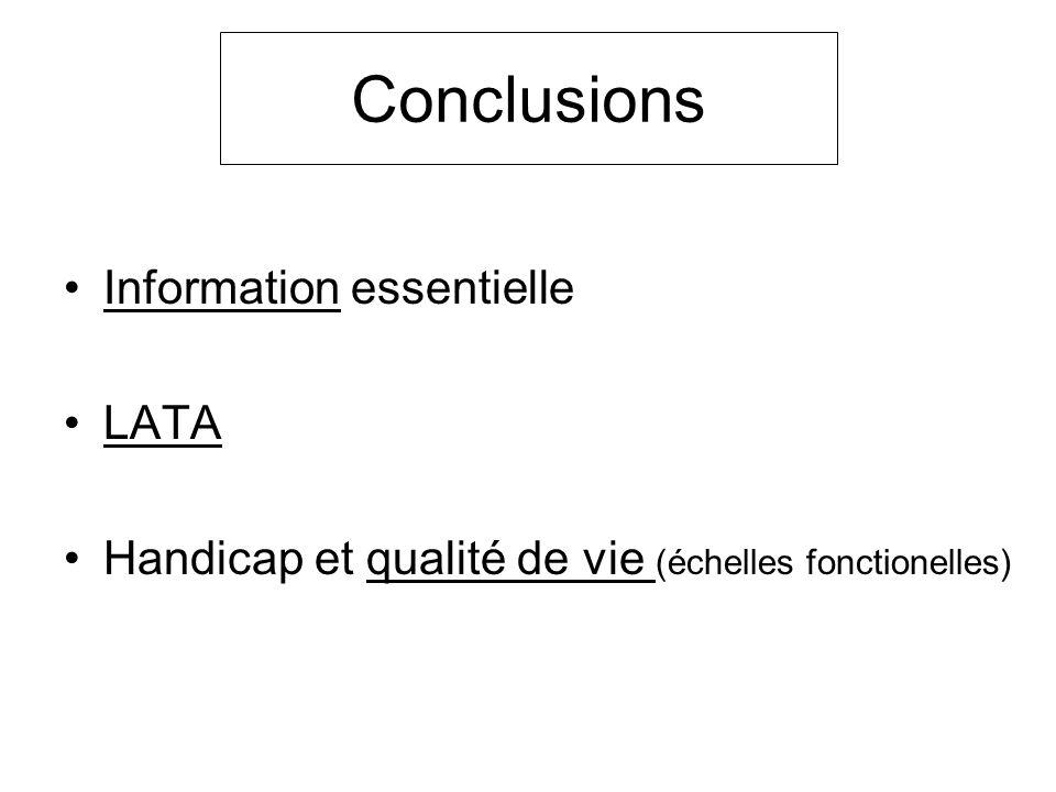 Conclusions Information essentielle LATA