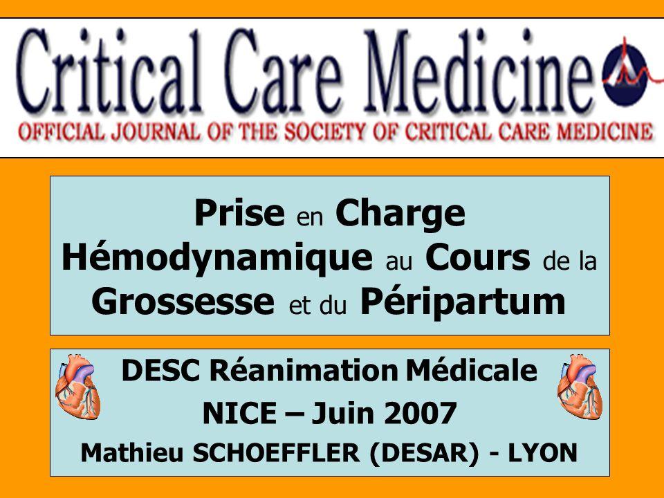 DESC Réanimation Médicale Mathieu SCHOEFFLER (DESAR) - LYON