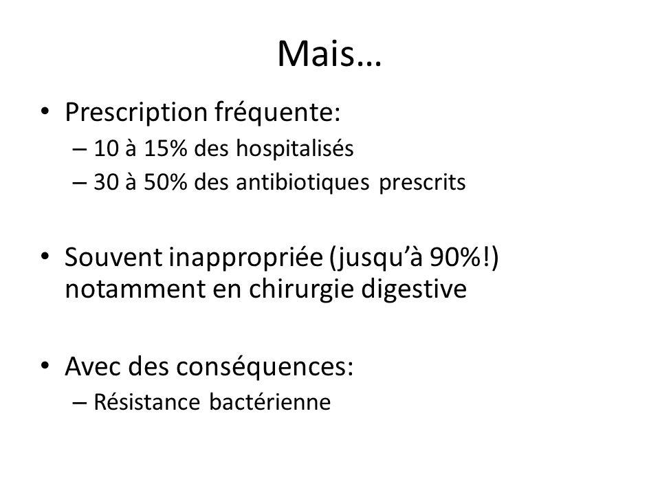 Mais… Prescription fréquente: