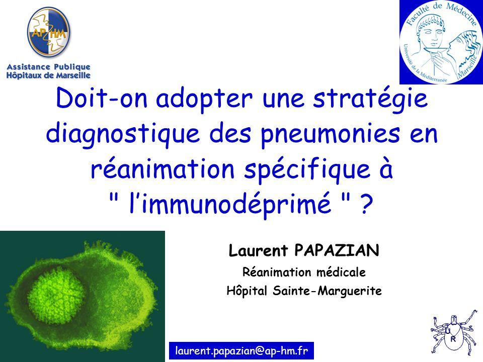 Laurent PAPAZIAN Réanimation médicale Hôpital Sainte-Marguerite