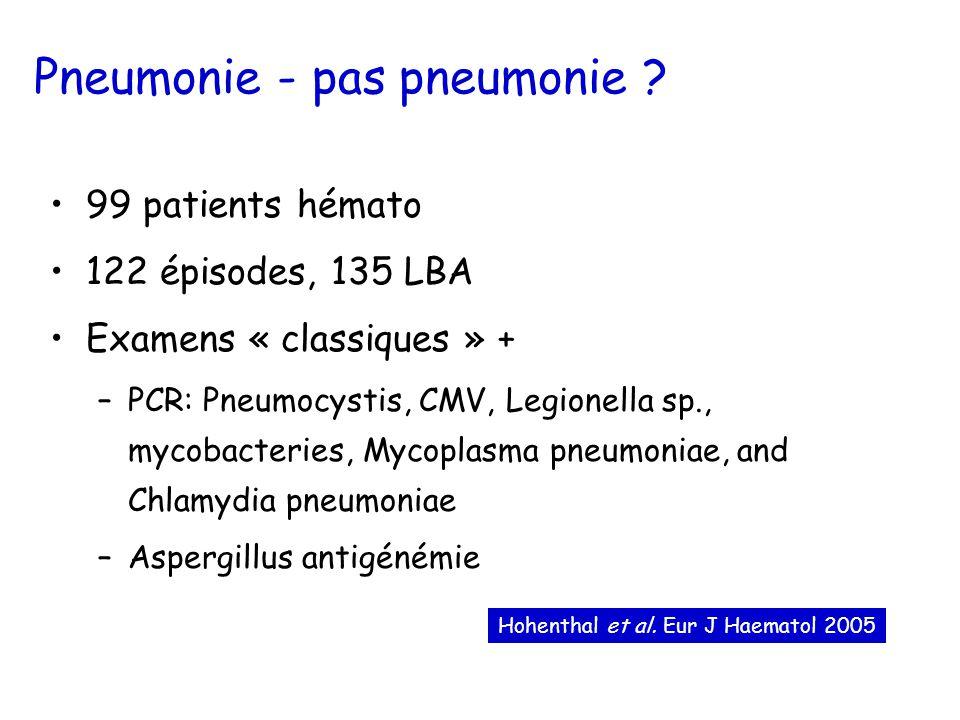 Pneumonie - pas pneumonie