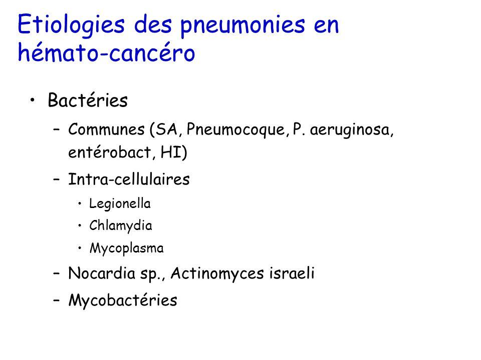 Etiologies des pneumonies en hémato-cancéro