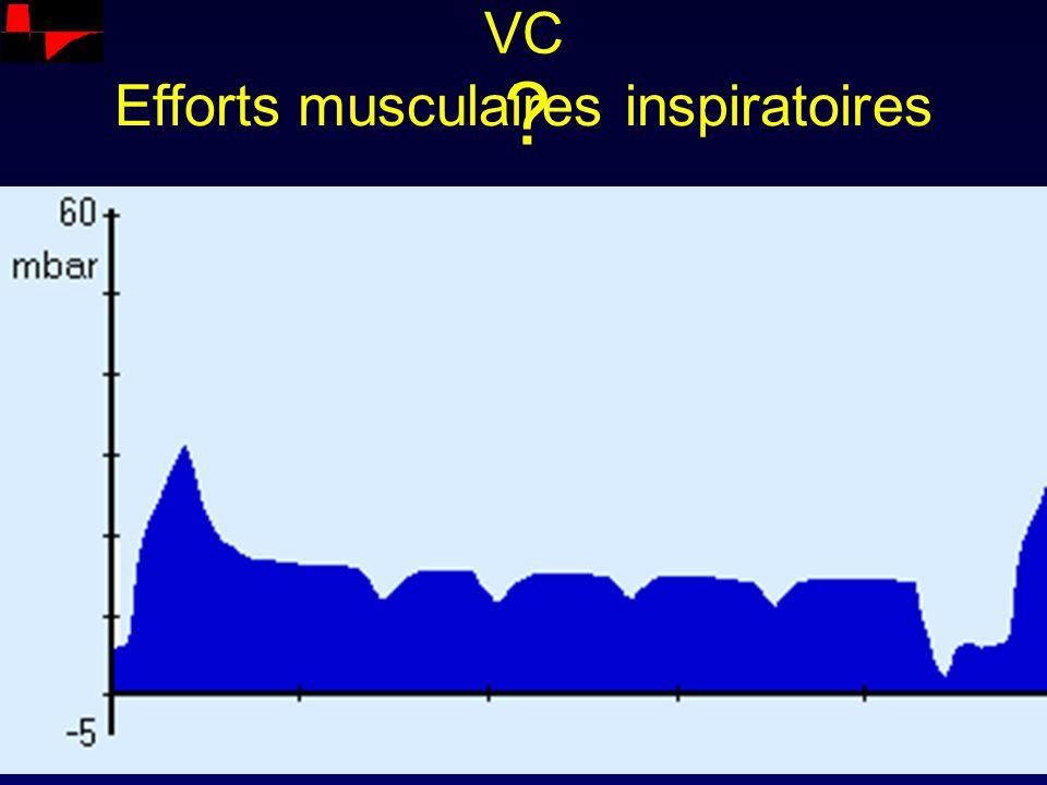 Efforts musculaires inspiratoires