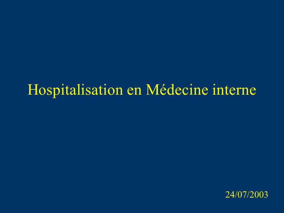 Hospitalisation en Médecine interne