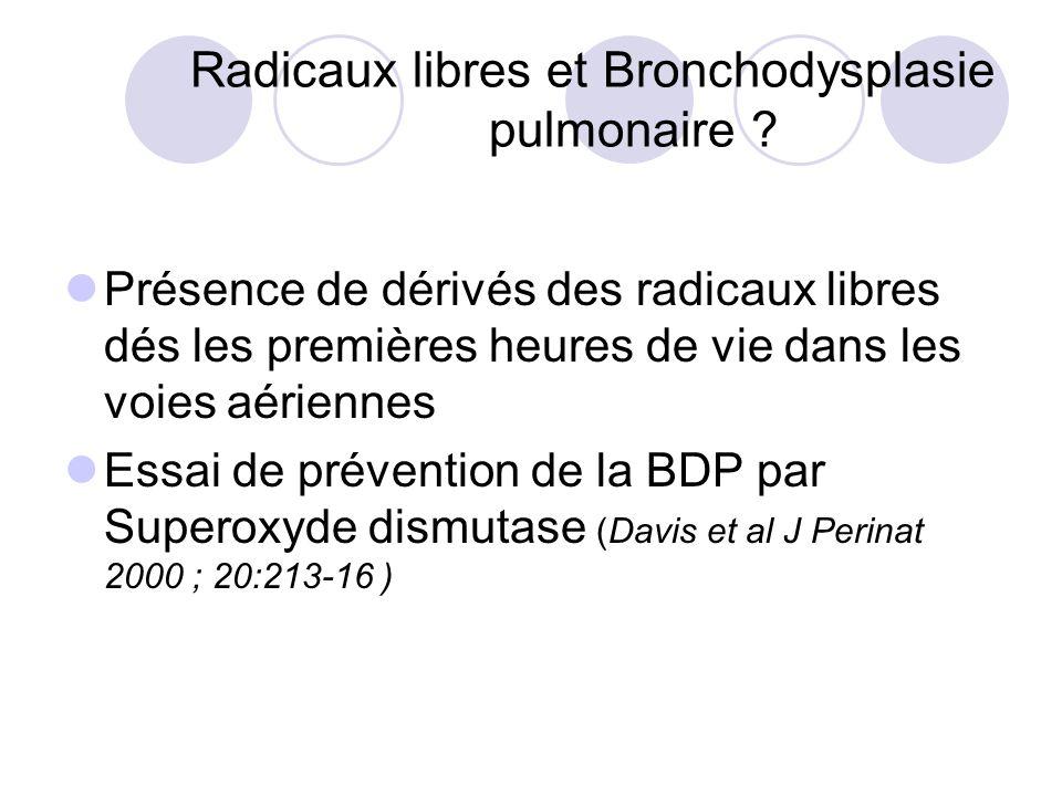 Radicaux libres et Bronchodysplasie pulmonaire