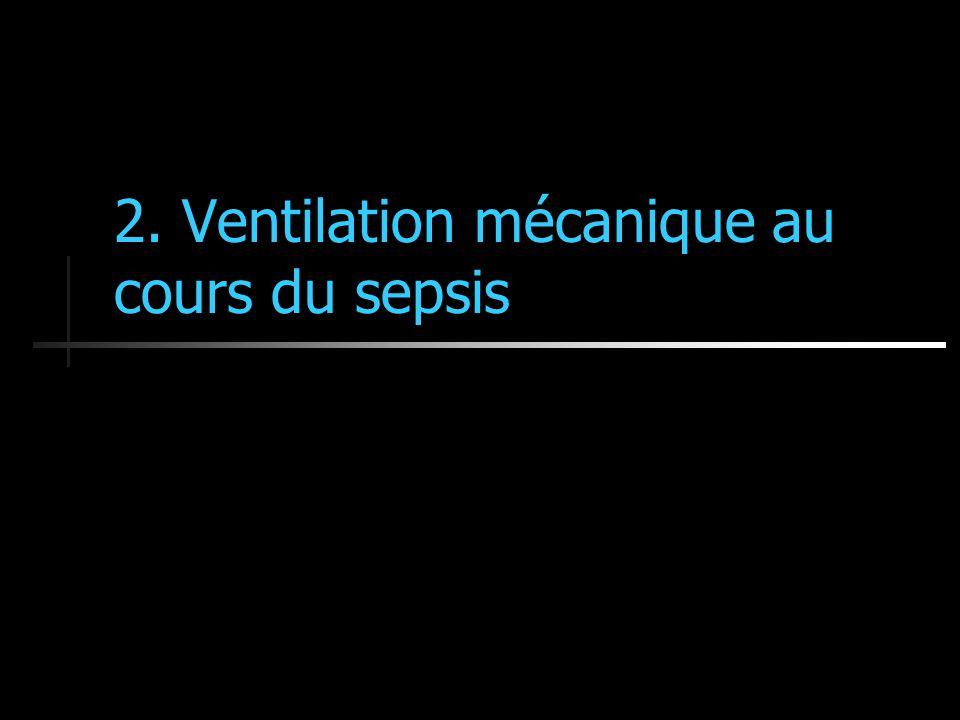 2. Ventilation mécanique au cours du sepsis