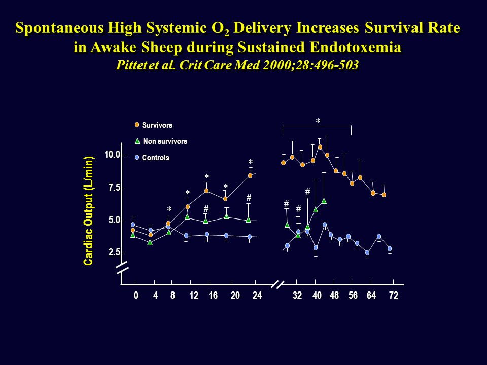 Spontaneous High Systemic O2 Delivery Increases Survival Rate
