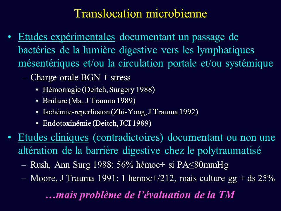Translocation microbienne