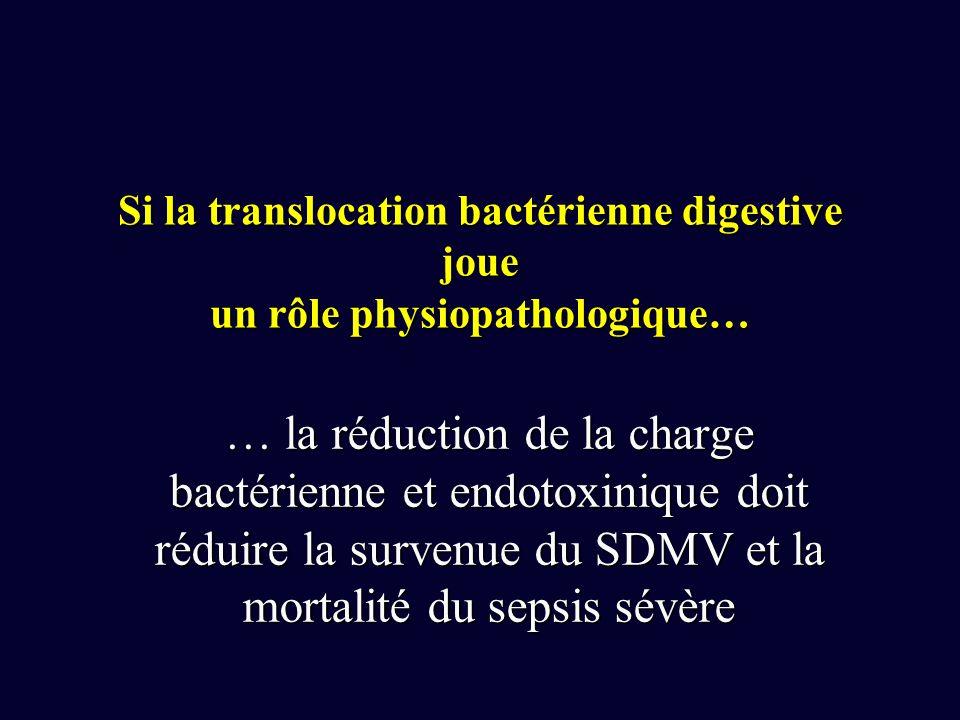 Si la translocation bactérienne digestive joue un rôle physiopathologique…