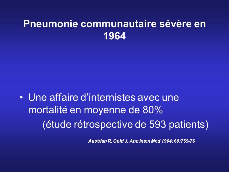 Pneumonie communautaire sévère en 1964