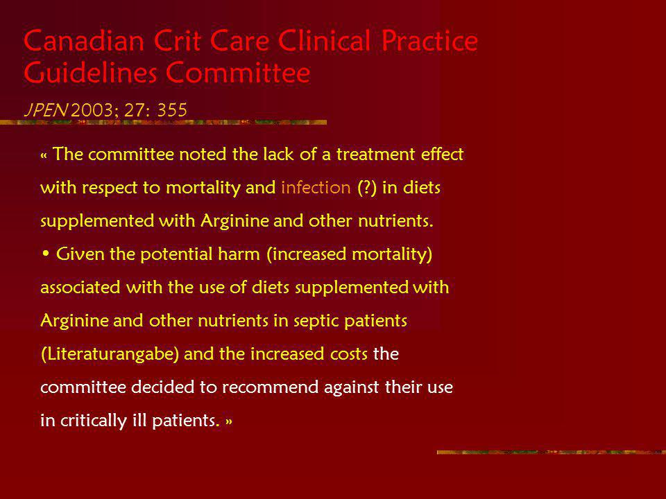 Canadian Crit Care Clinical Practice Guidelines Committee