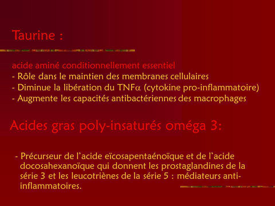Acides gras poly-insaturés oméga 3: