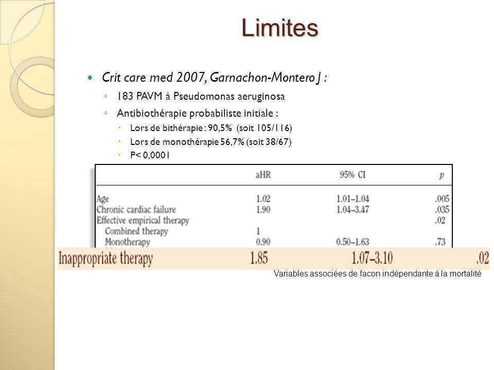 Limites Crit care med 2007, Garnachon-Montero J :