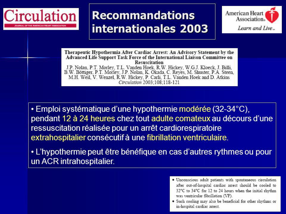 Recommandations internationales 2003