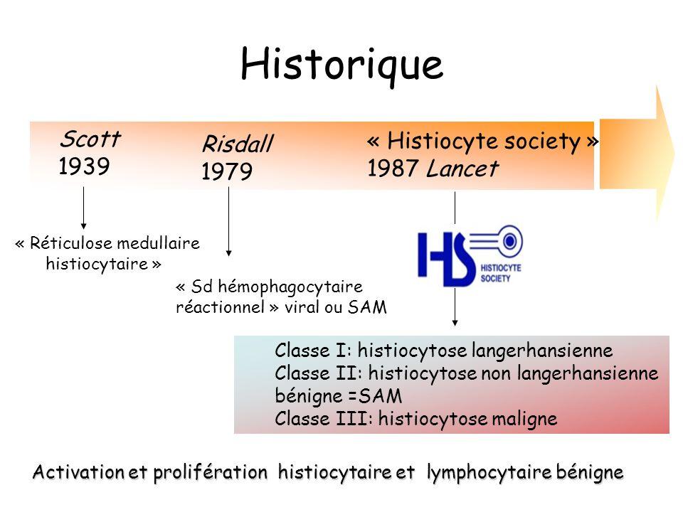 Historique Scott « Histiocyte society » Risdall 1939 1987 Lancet 1979