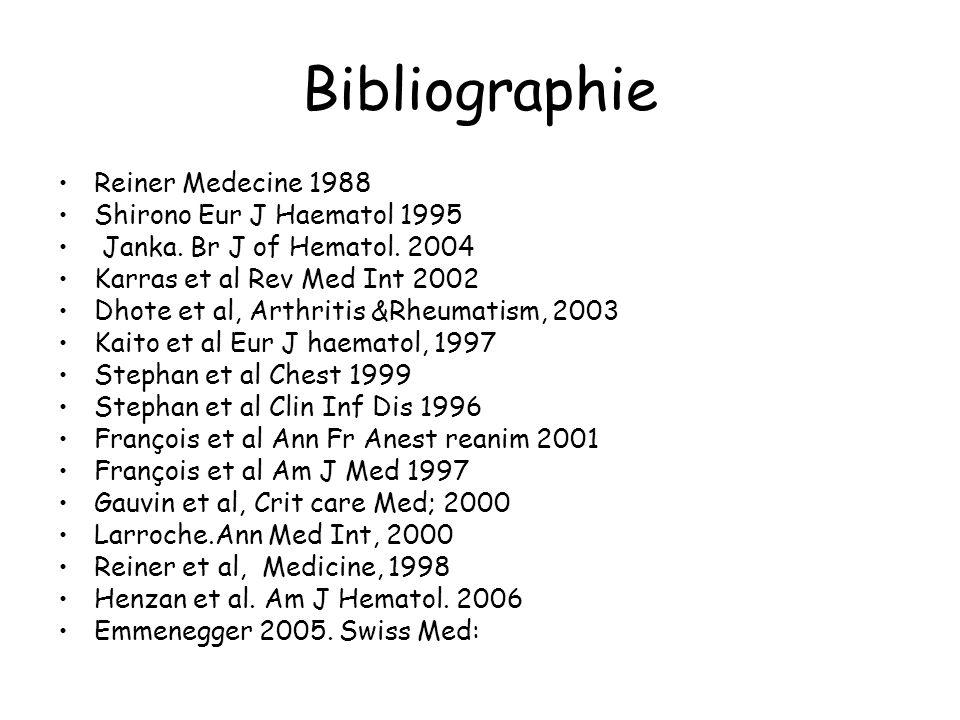 Bibliographie Reiner Medecine 1988 Shirono Eur J Haematol 1995