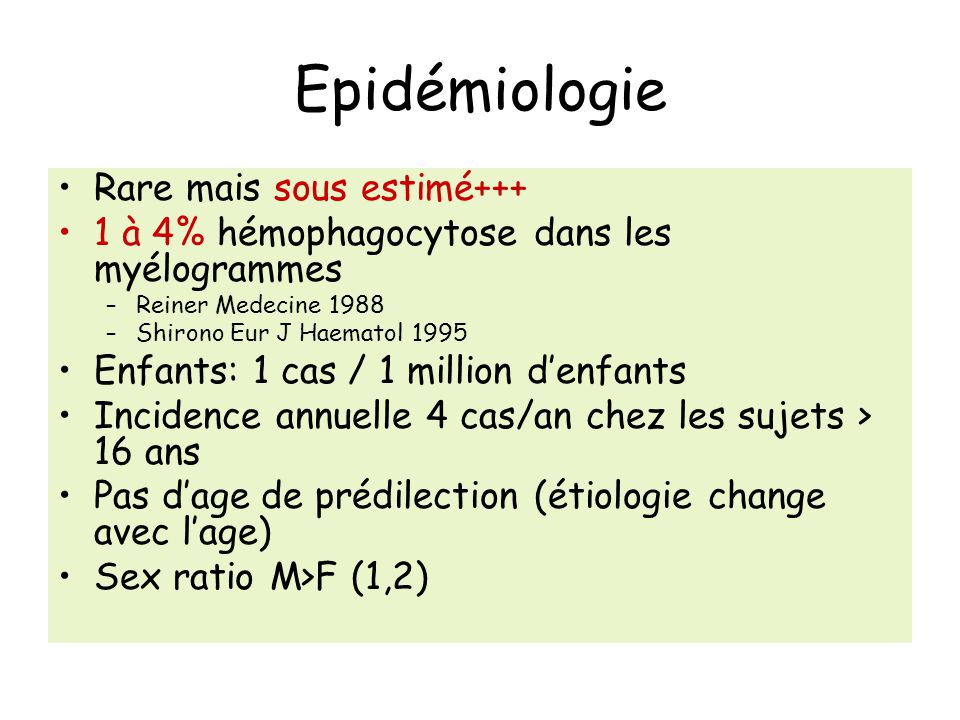 Epidémiologie Rare mais sous estimé+++