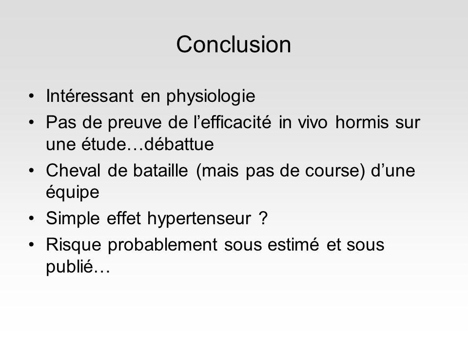 Conclusion Intéressant en physiologie