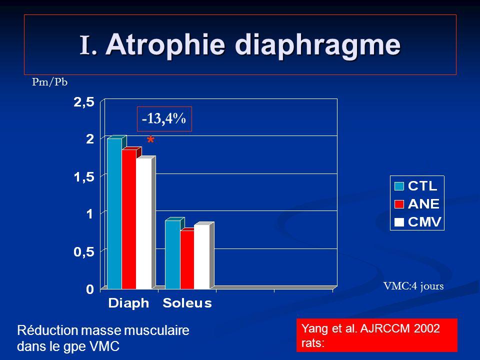 I. Atrophie diaphragme * -13,4%