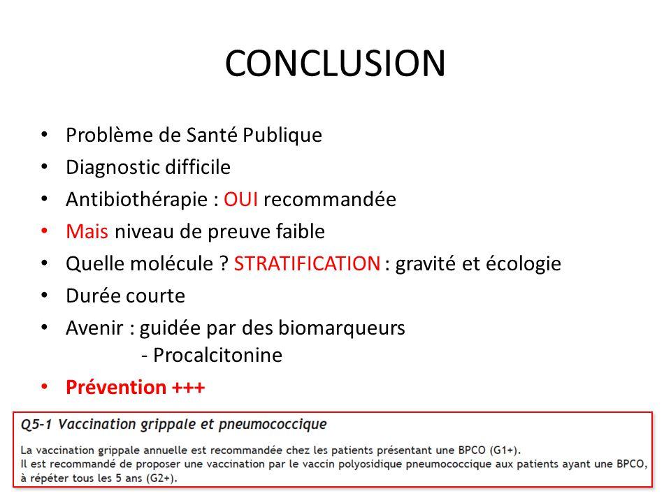 CONCLUSION Problème de Santé Publique Diagnostic difficile