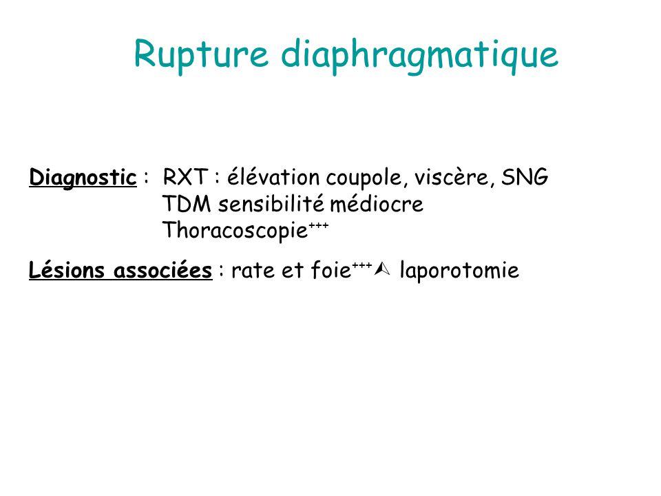 Rupture diaphragmatique