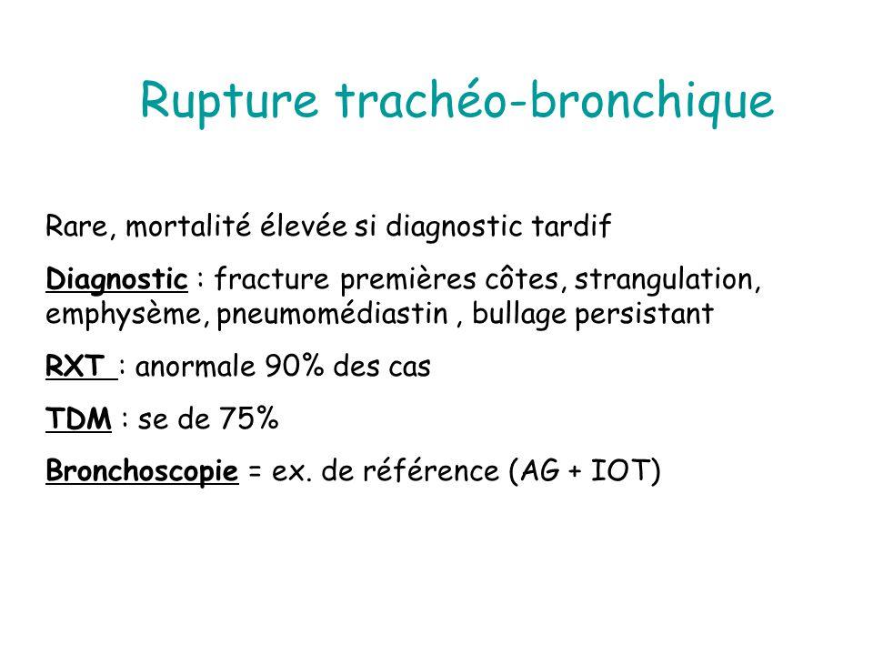 Rupture trachéo-bronchique