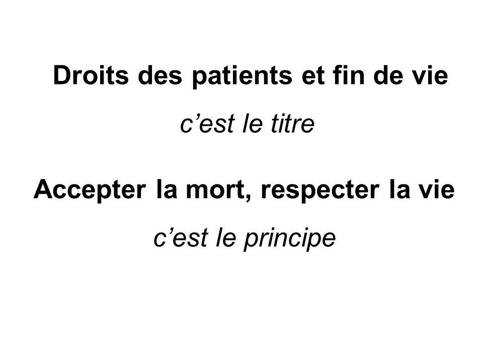 Droits des patients et fin de vie