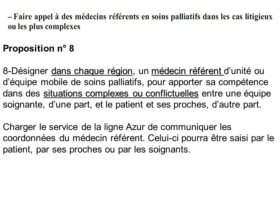 Proposition n° 8